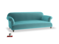 Large Soufflé Sofa in Belize clever velvet