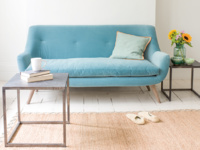 Luxury Berlin retro sofa handmade in Britain
