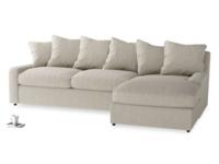 Comfy, deep seated luxury Cloud chaise corner sofa