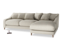 British made luxury Oscar Chaise corner sofa classic style with scatter cushion back