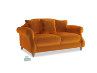 Small Sloucher Sofa in Spiced Orange clever velvet