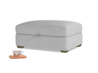 Bumper Storage Footstool in Storm cotton mix