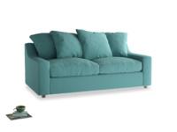 Medium Cloud Sofa Bed in Peacock brushed cotton