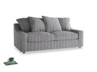 Medium Cloud Sofa Bed in Brittany Blue french stripe