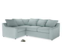 Large Left Hand Cloud Corner Sofa in Gull's Egg Brushed Cotton