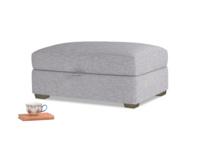 Bumper Storage Footstool in Mist cotton mix