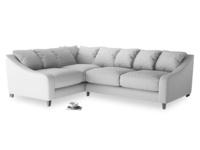 Large Left Hand Oscar Corner Sofa  in Flint brushed cotton