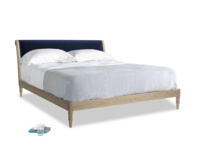 Superking Darcy Bed in Midnight plush velvet