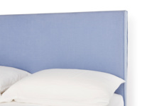 Piper contemporary bed headboard with beautiful piping detail