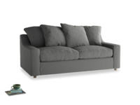 Medium Cloud Sofa in French Grey brushed cotton