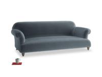 Large Soufflé Sofa in Mermaid plush velvet