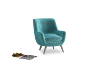 Berlin Armchair in Belize clever velvet