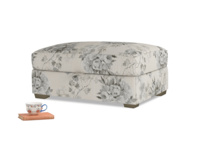 Bumper Storage Footstool in Dusty Blue vintage rose