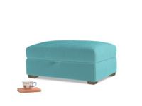Bumper Storage Footstool in Belize clever velvet