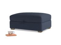 Bumper Storage Footstool in Indigo vintage linen