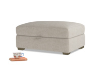 Bumper Storage Footstool in Birch wool
