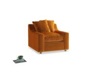 Cloud Armchair in Spiced Orange clever velvet