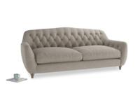 Large Butterbump Sofa in Birch wool