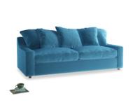 Large Cloud Sofa in Teal Blue plush velvet