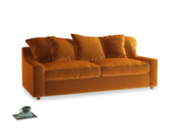 Large Cloud Sofa in Spiced Orange clever velvet