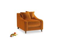Oscar Armchair in Spiced Orange clever velvet