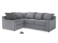 Large Left Hand Cloud Corner Sofa in Dove grey wool