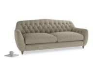 Large Butterbump Sofa in Jute vintage linen