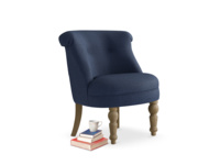 Bovary Occasional Chair in Pitch Blue Classic Linen