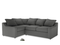 Large Left Hand Cloud Corner Sofa in French Grey brushed cotton