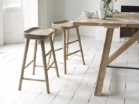 Stunning British made wooden kitchen stools