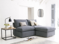 Upholstered Chatnap sofa storage footstool