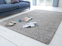 Grey Yarn wool woven handmade rug