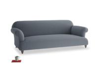 Large Soufflé Sofa in Blue Storm washed cotton linen