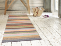 Tuppence is a hallway handamde striped patterned runner