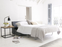 Space saving armless Chatnap modular double sofa bed