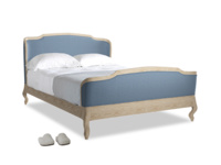 Kingsize Joëlle Bed in Nordic blue brushed cotton