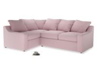 Large Left Hand Cloud Corner Sofa in Pale Rose vintage linen