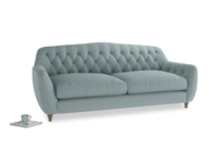 Large Butterbump Sofa in Smoke blue brushed cotton