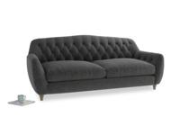 Large Butterbump Sofa in Shadow Grey wool