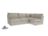 Large right hand Chatnap modular corner sofa bed in Thatch house fabric