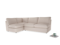 Large left hand Chatnap modular corner sofa bed in Faded Pink brushed cotton