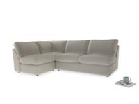 Large left hand Chatnap modular corner sofa bed in Smoky Grey clever velvet