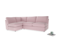 Large left hand Chatnap modular corner sofa bed in Pale Rose vintage linen