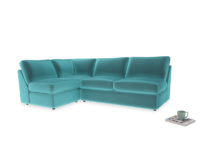 Large left hand Chatnap modular corner sofa bed in Belize clever velvet