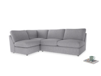 Large left hand Chatnap modular corner sofa bed in Storm cotton mix