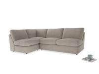 Large left hand Chatnap modular corner sofa bed in Birch wool