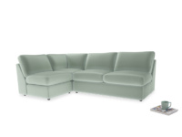 Large left hand Chatnap modular corner sofa bed in Mint clever velvet