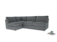 Large left hand Chatnap modular corner sofa bed in Dusk vintage linen