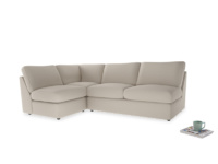 Large left hand Chatnap modular corner sofa bed in Buff brushed cotton
