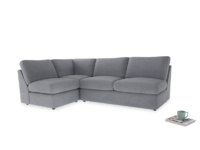 Large left hand Chatnap modular corner sofa bed in Dove grey wool